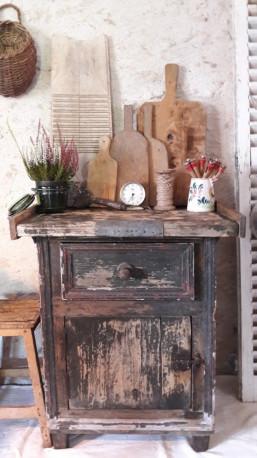 Commode type meuble de metier vintage