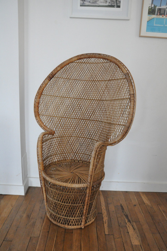 fauteuil emmanuelle ann es 70 les vieilles choses. Black Bedroom Furniture Sets. Home Design Ideas