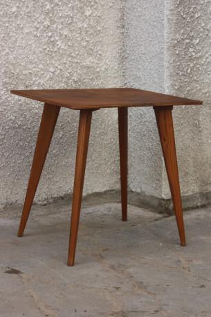 TABLE basse bois compas années 50 vintage