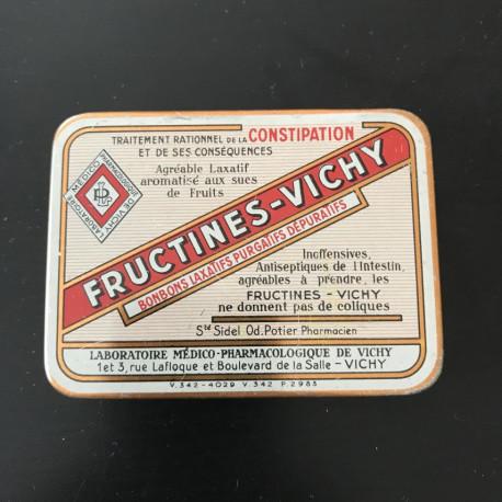 Boite métallique Fructines Vichy ancienne