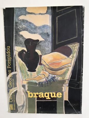 Affiche vintage poster Braque 1982 expo Pompidou