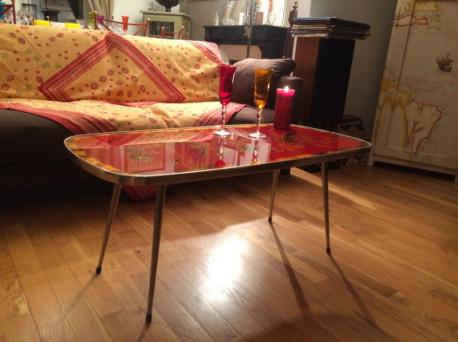 Table verre intégré années 50