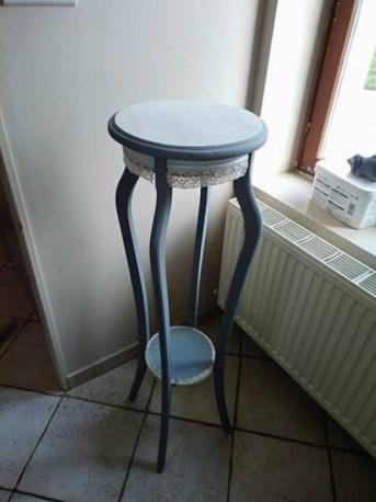 Table sellette bois relooké vintage
