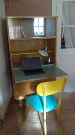 Secrétaire vintage bureau avec sa chaise