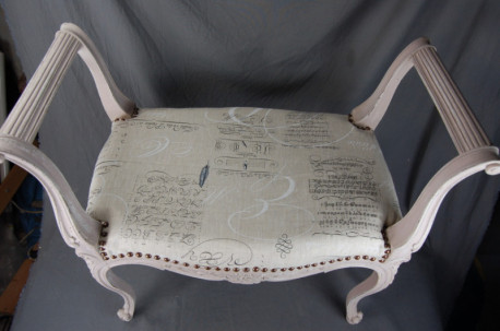 BANQUETTE STYLE LOUIS XV RELOOKÉE SHABBY CHIC