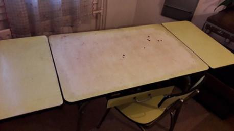Table et chaises formica vintage