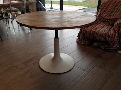 Table ronde ajustable Années 70