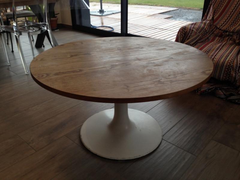 table ronde ajustable ann es 70 les vieilles choses. Black Bedroom Furniture Sets. Home Design Ideas