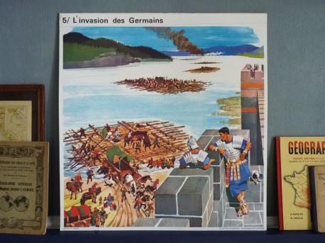 Affiche scolaire vintage : Les Germains