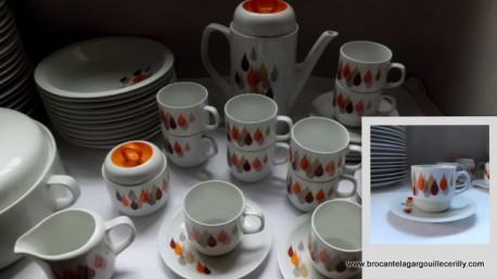 service à café porcelaine Gillian Diffusion Vintage