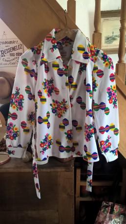 chemisier polyester vintage