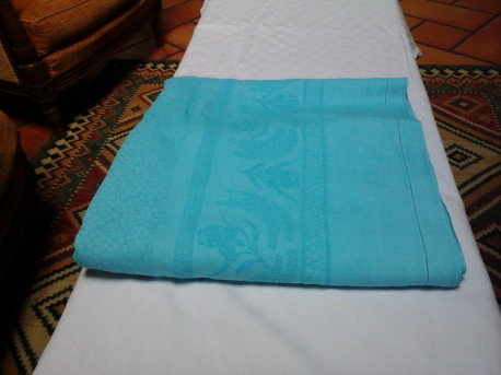 Nappe ancienne turquoise