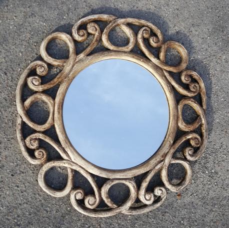 Miroir vintage rustique en bois, esprit shabby chic, bel état