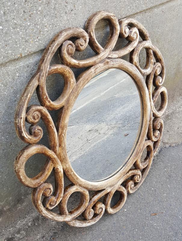 miroir vintage rustique en bois esprit shabby chic vintage les vieilles choses. Black Bedroom Furniture Sets. Home Design Ideas
