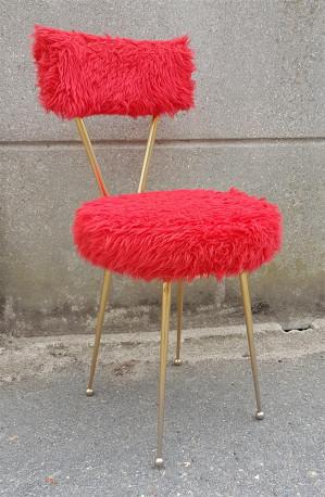 Chaise moumoute années 60 vintage