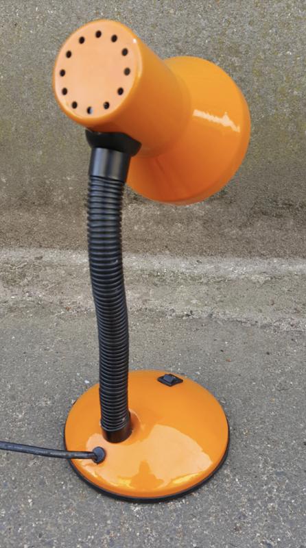 À Vintage Poser Orange Flexible Lampe yN0mv8nwO