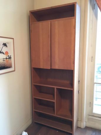 Meuble bibliothèque en bois (Chêne ?)