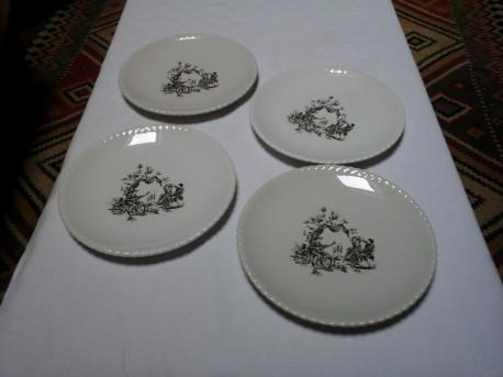 Assiettes à dessert anciennes Lunéville