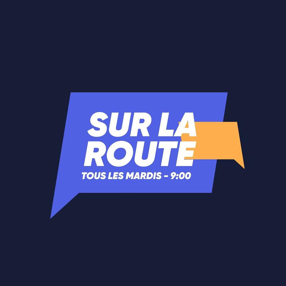 logo sur la route
