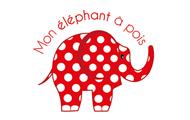 logo mon éléphant à pois